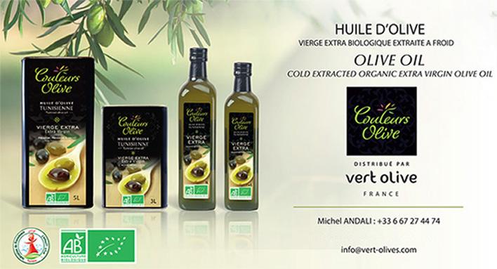 huiles d'olive de couleur olive